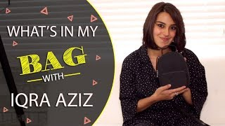 Let's have a look in Iqra Aziz bag | FHM Pakistan