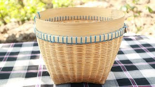 """How to create  """"Wakul/Basket """" from bamboo. Place rice."""