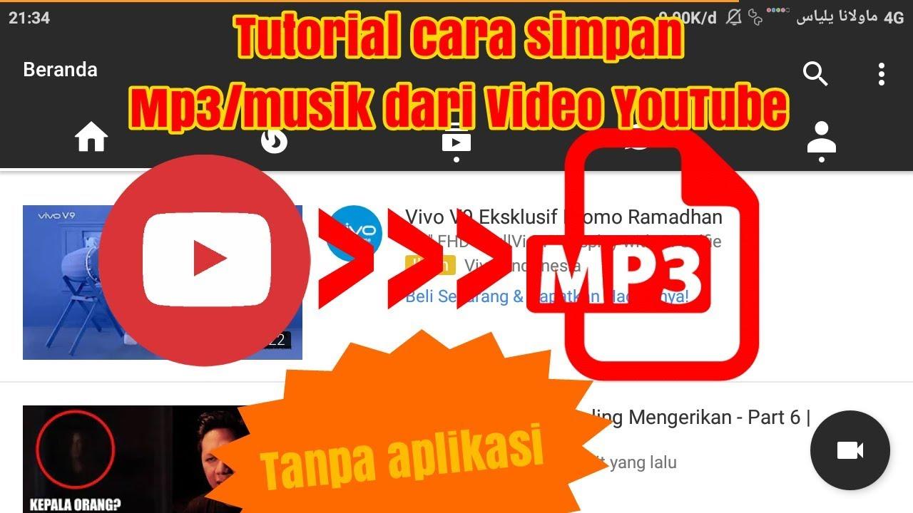 Cara Download Musik Mp3 Dari Video Youtube Youtube