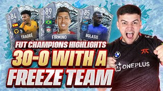 30-0 ON FUT CHAMPIONS WITH A FULL FREEZE TEAM!! FIFA 21