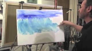 """""""Море. Прозрачная волна"""" Урок с замедленными съемками, художник Игорь Сахаров"""