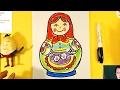 Как нарисовать МАТРЕШКУ урок рисования для детеи от 3 лет mp3