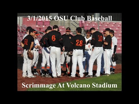 03/01/2015 OSU Club Baseball Scrimmage at Volcano Stadium