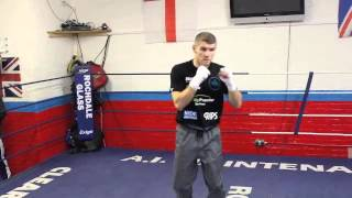 LIAM SMITH SHADOW BOXING AHEAD OF WORLD TITLE CLASH WITH JOHN THOMPSON (FOOTAGE)