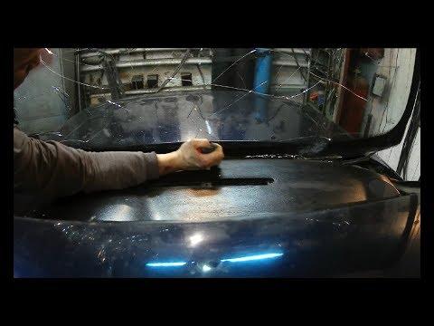 АУДИ 80 как заменить лобовое стекло и сохранить молдинг