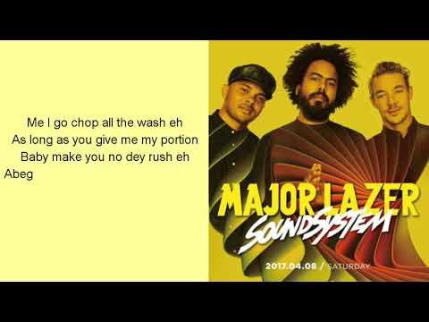 Mr Eazi & Major Lazer - Leg Over (Remix) (feat. French Montana & Ty Dolla Sign) ( lyrics video)