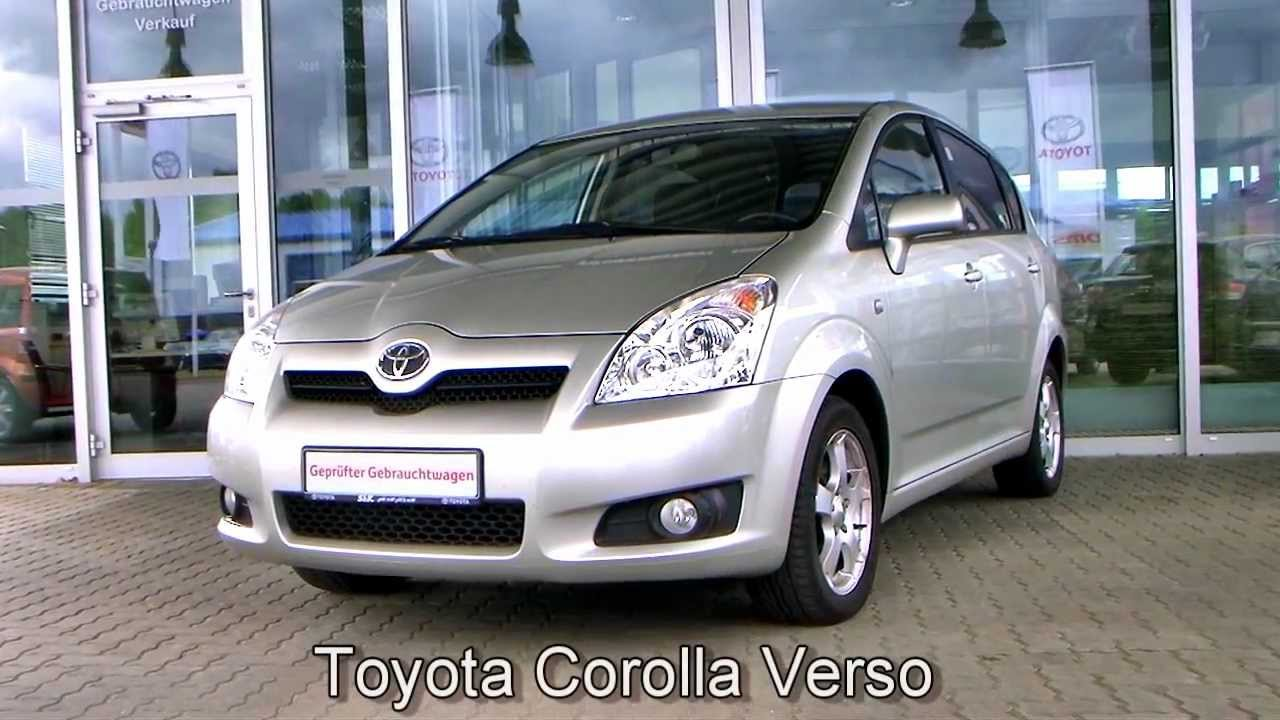 toyota corolla verso 2008 silber metallic 123494 youtube. Black Bedroom Furniture Sets. Home Design Ideas