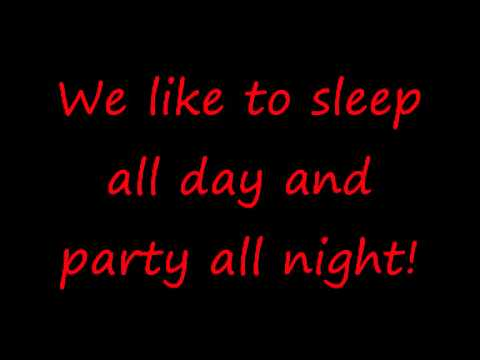 Lyrics Sean Kingston - Party All Night (Sleep All Day)