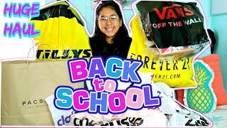BACK TO SCHOOL Clothing HAUL 2018!!! Vans Tillys Forever 21 Pacsun Claires