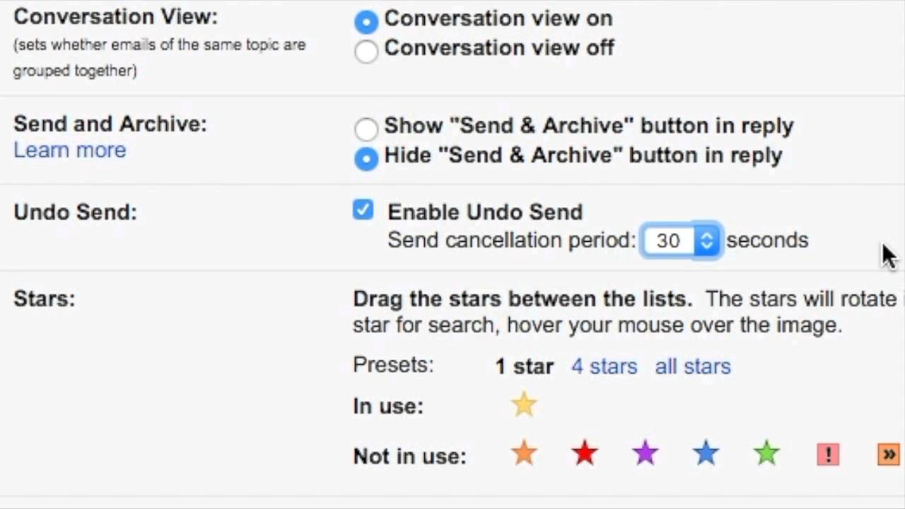 Gmail - Increase Undo Time