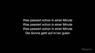 1 MINUTE - Fynn Kliemann | Lyrics