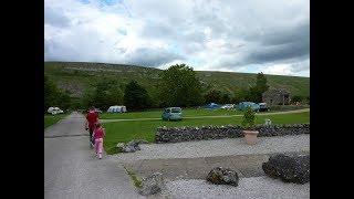 Hawkswick Cote caravan park, Yorkshire Dales, UK