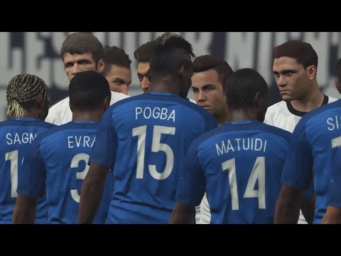PES 2016 UEFA Euro 2016 (Germany vs France Gameplay)