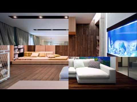 Living Room Designs With Aquarium - YouTube