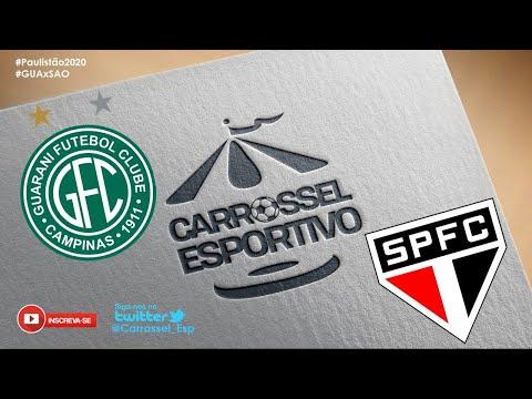 Guarani x São Paulo AO VIVO - Campeonato Paulista - 26/07/2020