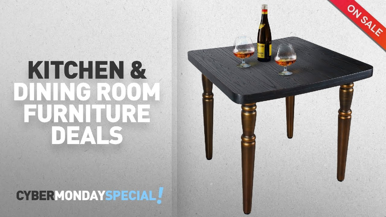 Top Cyber Monday Kitchen U0026 Dining Room Furniture Deals: LCH Indoor/Outdoor  Industrial Wooden Dining