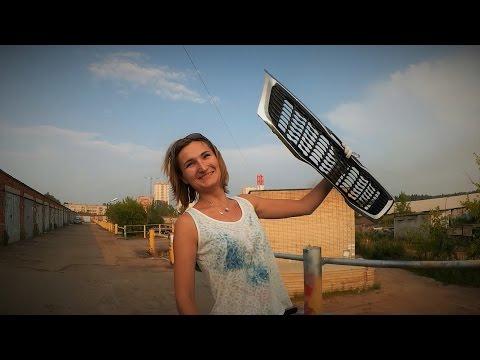 Сетка в решетку радиатора на автомобиле Киа Рио
