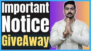 [Important] Giveaway! | Praveen Dilliwala | Must Watch!