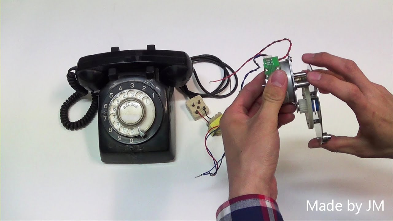 rotary dial phone ringing without telephone connection [ 1280 x 720 Pixel ]