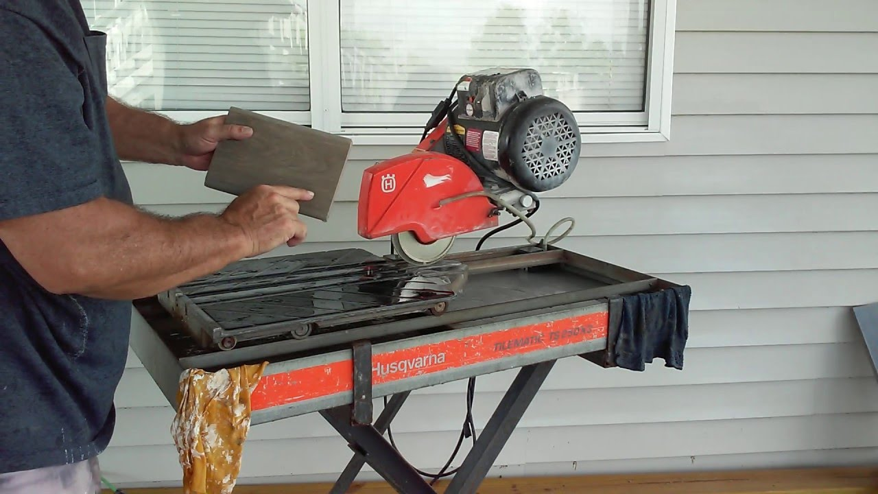 How To Use Wet Saw Bullnose Blade Youtube