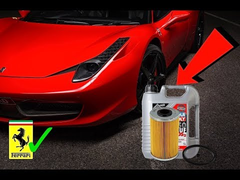 How to change the Oil on a Ferrari 458 DIY Step By Step Oil & Filter Change