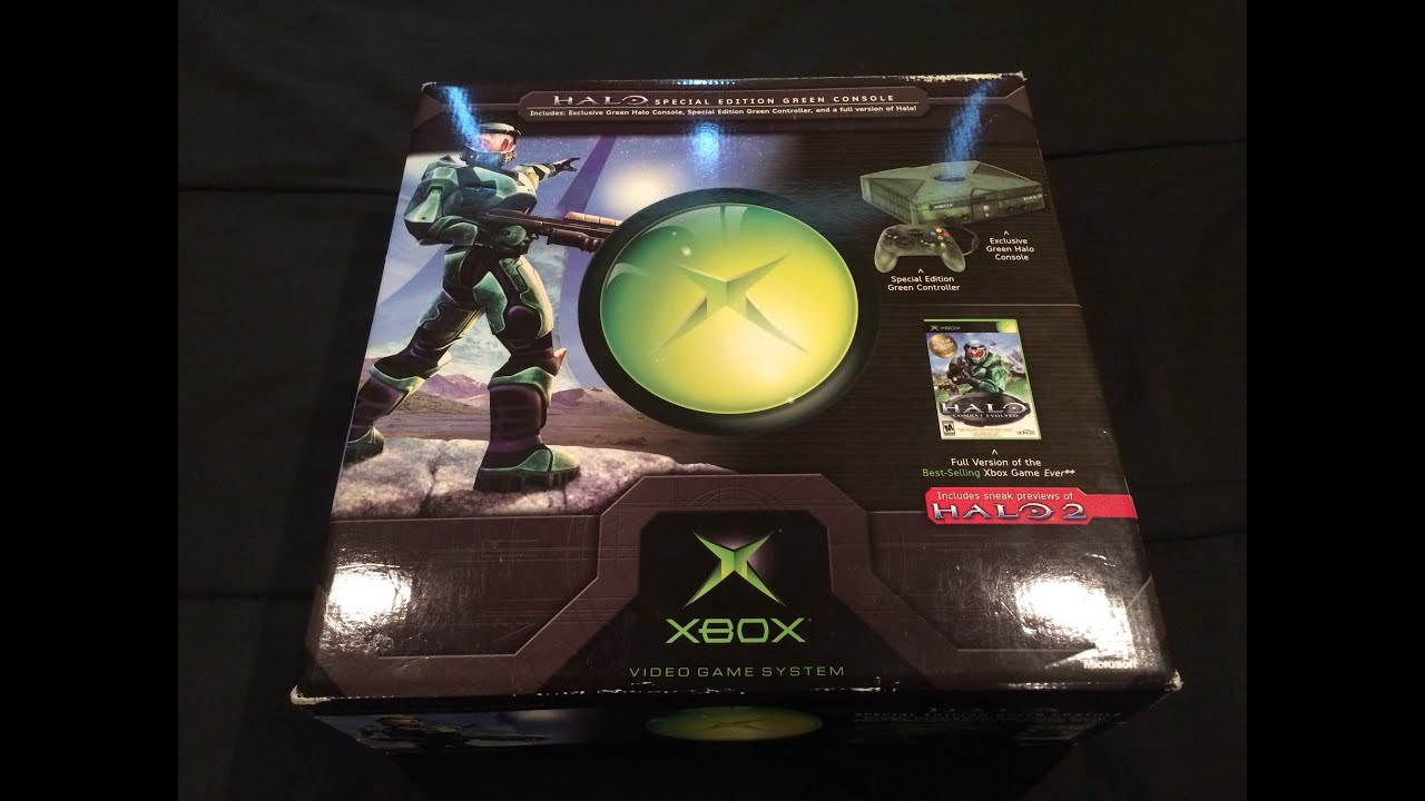 ORIGINAL! Xbox HALO (Combat Evolved Edition) Console UNBOXING!! - YouTube