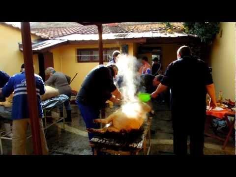 Traditional Pig Slathering in Bulgaria - Yambol