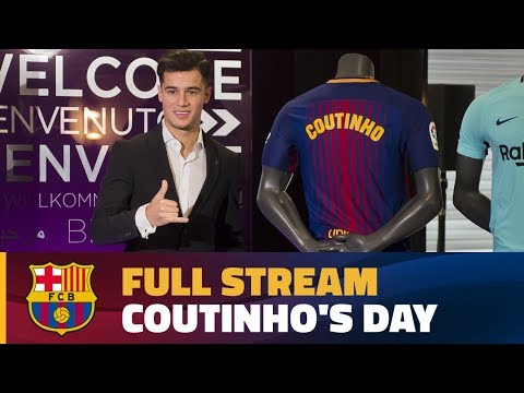 FULL STREAM | Coutinho's unveiling as a Barça player
