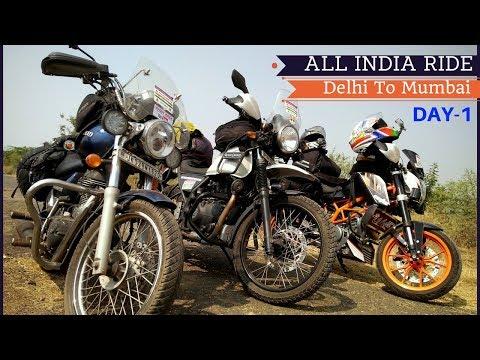 Delhi To Mumbai   ALL INDIA RIDE   25 Mins Worth Watching   Day-1   Vlog#1   Drone Shots