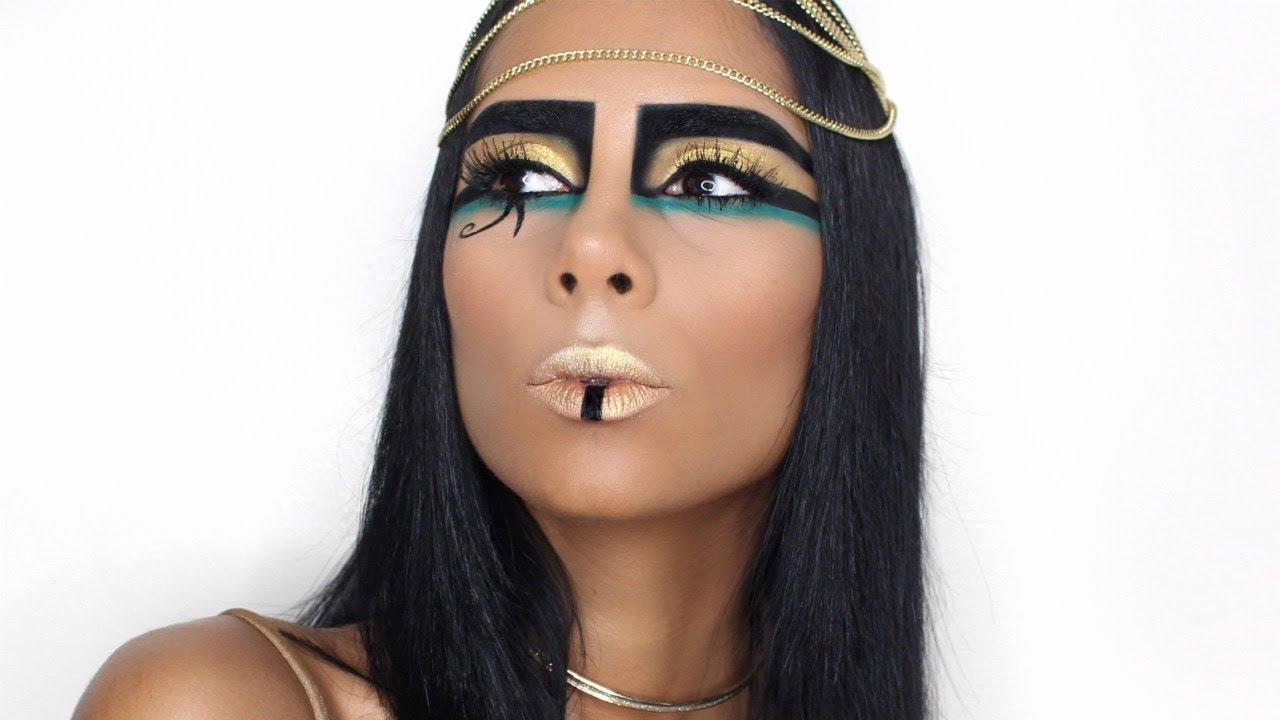 bf9bd88eb Cleopatra Maquillaje de Halloween | Nathalie En Español - YouTube