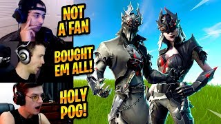 STREAMERS REACT TO *NEW* ARACHNE & SPIDER KNIGHT SKINS - Fortnite Best & Funny Moments #193