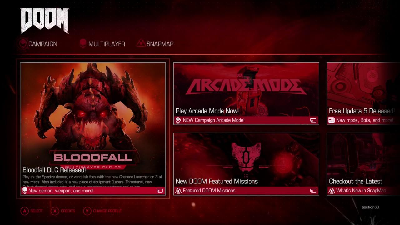 Doom: Main Menu UI