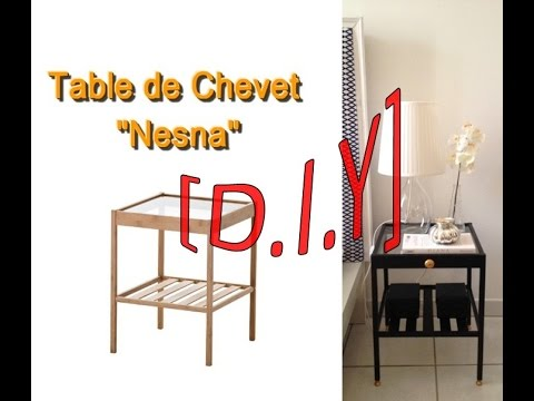 diy table de chevet youtube. Black Bedroom Furniture Sets. Home Design Ideas