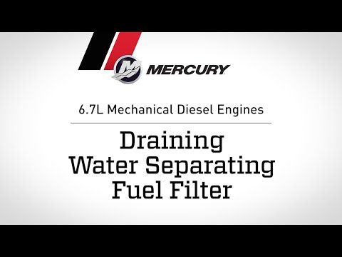 6.7L Mechanical Diesel Engines: Draining Water Separating Fuel Filter