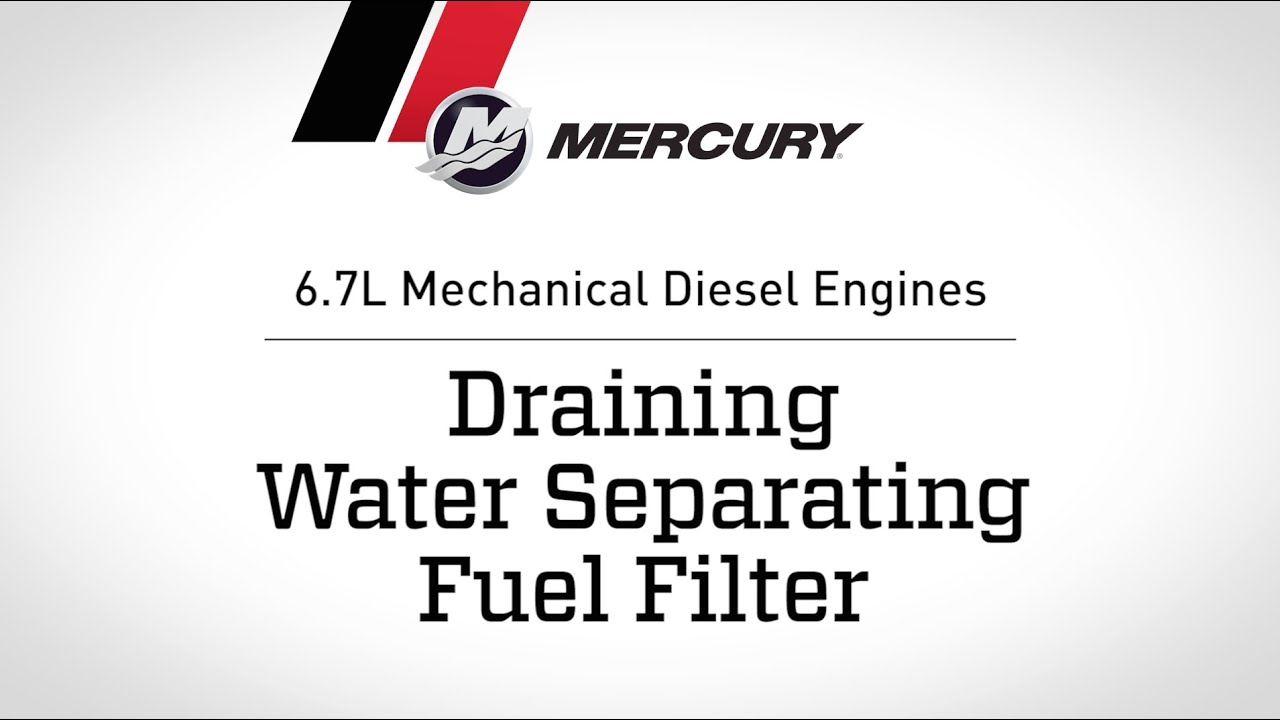 67l Mechanical Diesel Engines Draining Water Separating Fuel 1983 Ford F 250 Filter