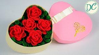 Как Сделать Красивый Подарок? Розы Из Бисера В Коробочке!