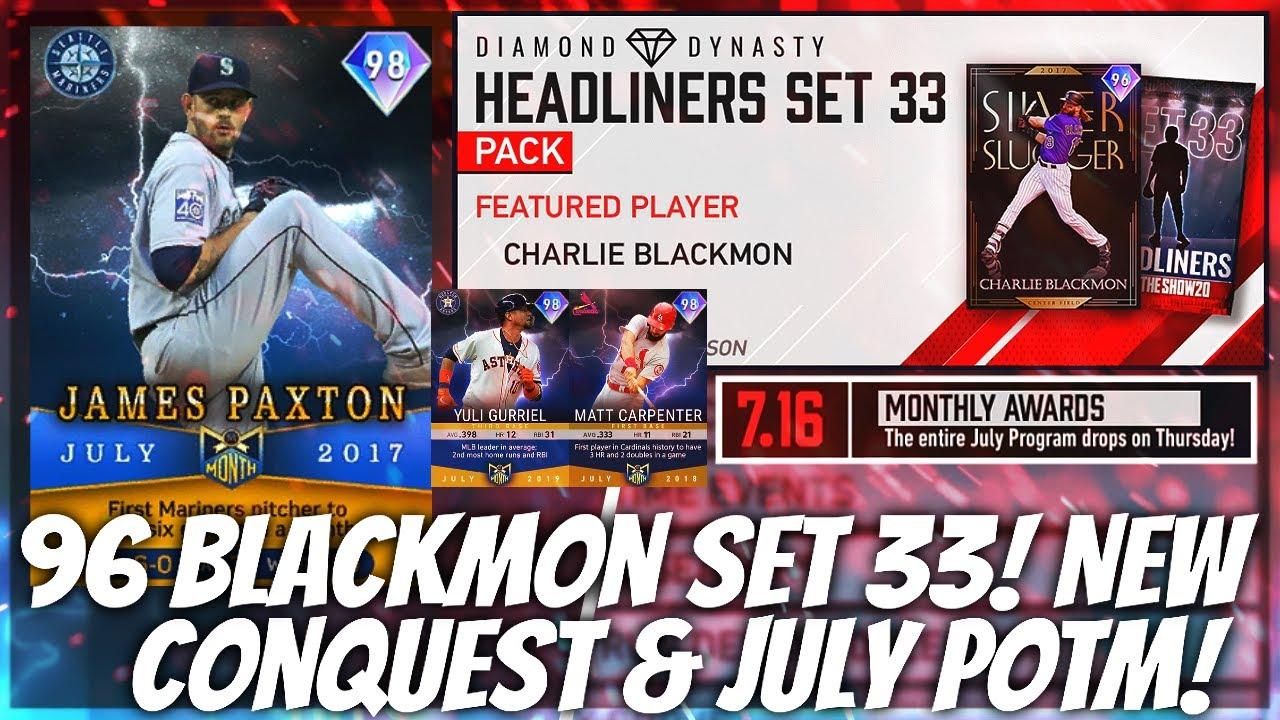 NEW Diamond 96 Charlie Blackmon & Conquest Map! July POTM Program News! MLB The Show 20