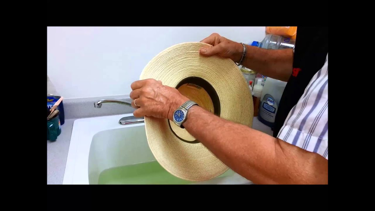 8eb9269a73c52 How to Shape a Palm Leaf Cowboy Hat - YouTube