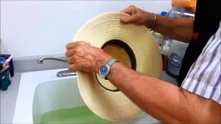 How to Shape a Palm Leaf Cowboy Hat