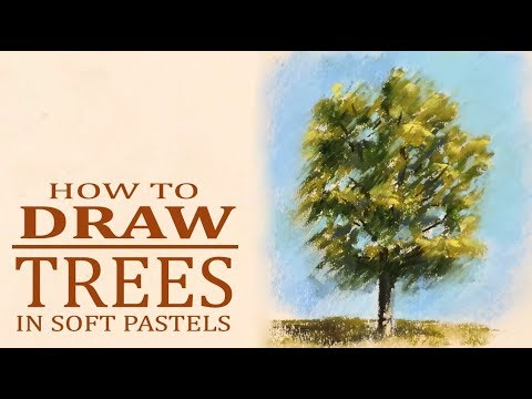 How to draw a tree in soft pastels | Easy art tutorial for beginners thumbnail