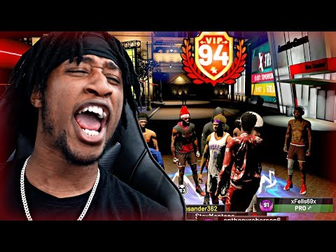 94 OVERALL REACTION! I GOT A CRAZY OP BOOST TO MY 3 POINT SHOOTING! CRAZY GREENS! - NBA 2K19 MyPARK
