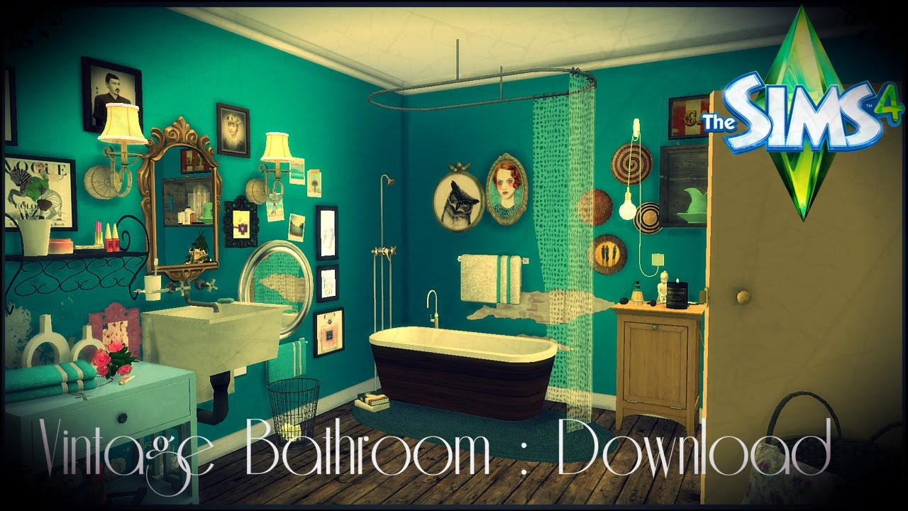The Sims 4 Vintage Bathroom Download Youtube