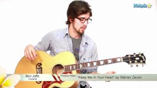 "How to Play ""Keep Me In Your Heart"" by Warren Zevon on Guitar (Practice Video)"
