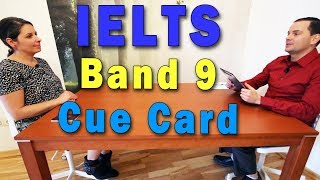 IELTS Speaking Cue Card - Band 9 'Event' with subtitles
