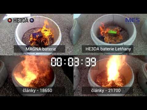 Test hoření baterií - květen 2021