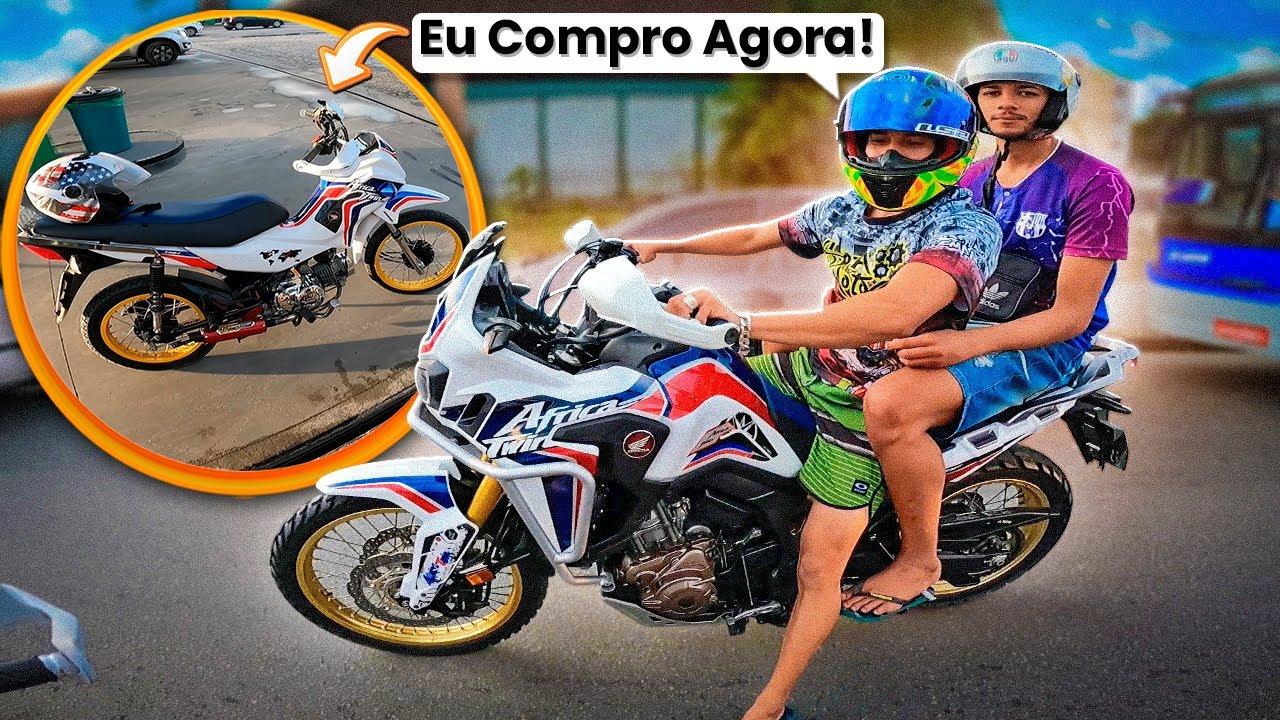 REAÇÃO DELE VENDO A MINHA POP110i MINI AFRICA TWIN !!