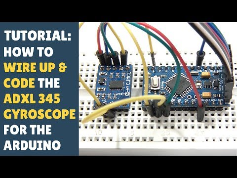 TUTORIAL: How To Wire Up & Code ADXL345 Gyroscope Accelerometer - (Arduino Module)