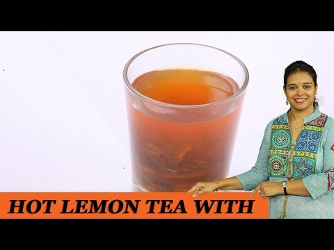 HOT LEMON TEA WITH MINT - Mrs Vahchef