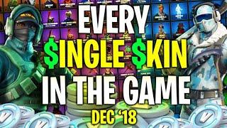 EVERY SINGLE SKIN IN FORTNITE!! | December 2018 | ExoticChaotic's Locker!