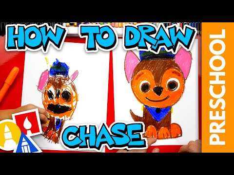 How To Draw Chase From Paw Patrol - Preschool